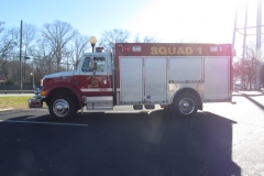 WJFD Squad 1 truck facing left