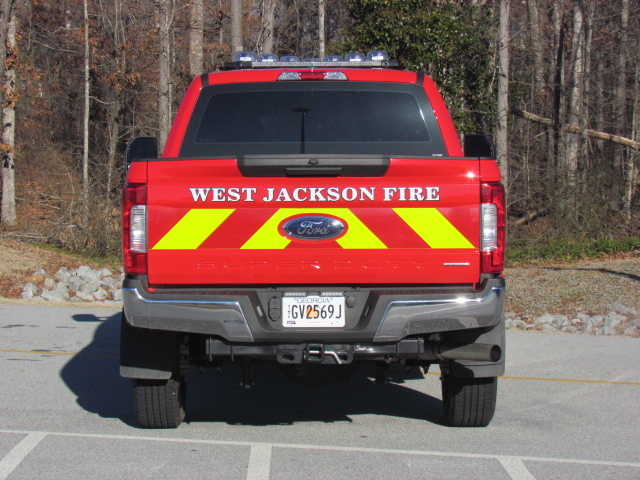 WJFD Red Pickup Rear