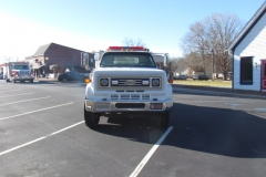 WJFD White Large Chevy Truck from front